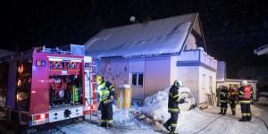 Wohnhausbrand in MIttlern in der Gemeinde Eberndorf am 23. Februar 2018
